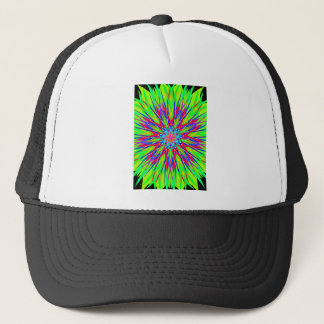Cool Modern Radiating Artistic Abstract Trucker Hat