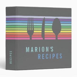 Cool Modern Rainbow Cooking Recipe Book Binder