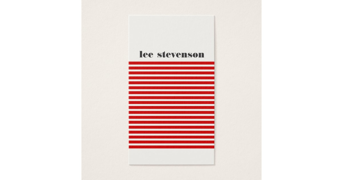 Cool Modern Red and Black Striped Hip Business Card | Zazzle.com