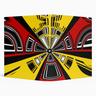 Cool modern red and yellow semicircle design binder