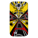 Cool modern red and yellow semicircle design samsung galaxy s4 cases