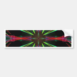 Cool Modern Red Green Christmas Abstract Bumper Sticker