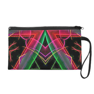 Cool Modern Red Green Winter Holiday Bow Wristlet