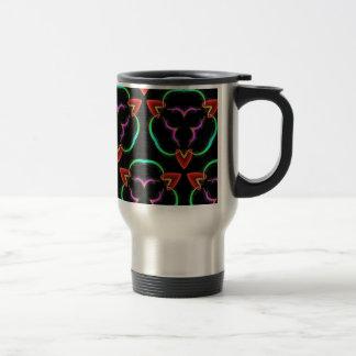 Cool Modern Red Teal Funky Pattern Travel Mug