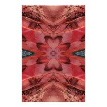 Cool Modern Rose Colored Pattern Stationery