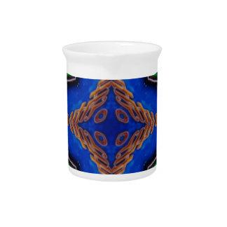 Cool Modern Royal Blue Artistic Pattern Beverage Pitcher