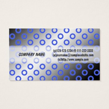 Professional Business Cool, modern shining blue & grey polka dots business card