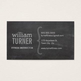 COOL MODERN simple text minimal trendy chalkboard Business Card