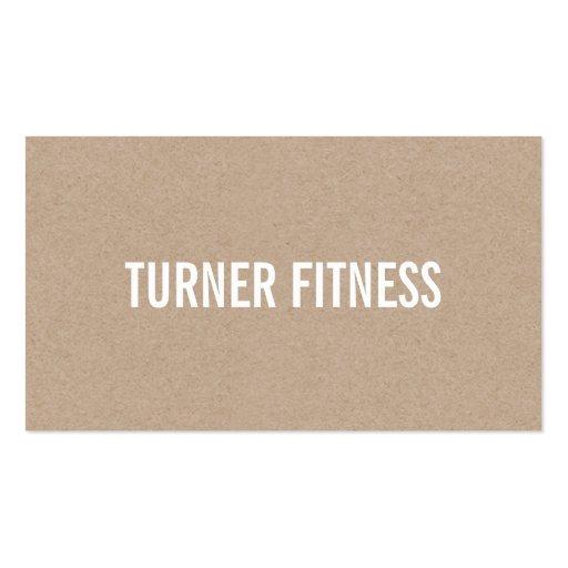 COOL MODERN simple text minimal trendy eco kraft Business Card (back side)