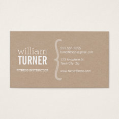 Cool Modern Simple Text Minimal Trendy Eco Kraft Business Card at Zazzle