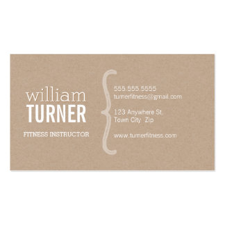 COOL MODERN simple text minimal trendy eco kraft Double-Sided Standard Business Cards (Pack Of 100)