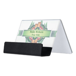Cool Modern Southwestern Style Desk Business Card Holder