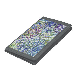 Cool, modern, trendy colorful abstract background trifold wallet