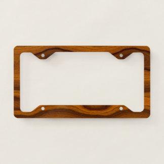 Cool Modern Trendy Wood Grain Pattern License Plate Frame