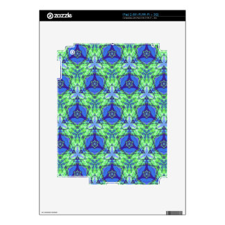Cool modern vibrant blue lime green pattern decal for the iPad 2