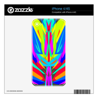 Cool Modern Vibrant Symmetrical Abstract Decals For The iPhone 4