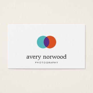 Cool Modern White Photographer Photography Logo Business Card
