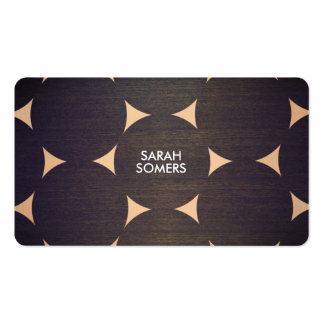 Cool, Modern Wood and Copper Circle Pattern Pack Of Standard Business Cards