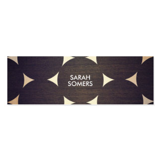 Cool, Modern Wood and Gold Circles Pattern Business Card Template
