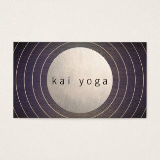 Cool Modern Zen Circle Yoga and Meditation Teacher Business Card