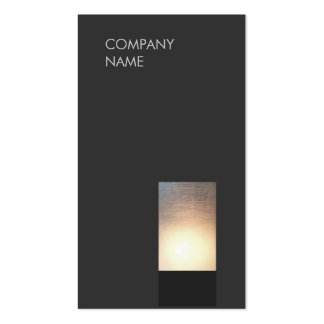 Cool Modern Zen Glow Minimalist Black Double-Sided Standard Business Cards (Pack Of 100)