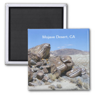 Cool Mojave Desert Magnet! 2 Inch Square Magnet