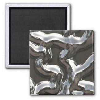 Cool molten steel look magnet