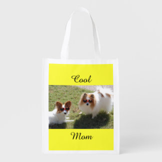 Cool Mom Dogs Reusable Grocery Bags