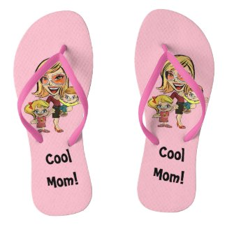 Cool Mom Pink Flip Flops