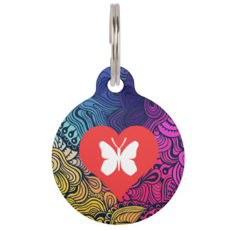 Cool Monarch Butterflies Pictograph Pet ID Tags