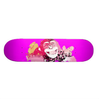 Cool monkey graffiti Street Art skateboard