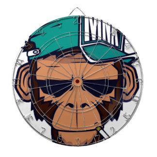 Cool Monkey With a Cigarette Dartboard