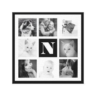 Cool Monogram and 8 Fun Instagram Photos Canvas Prints