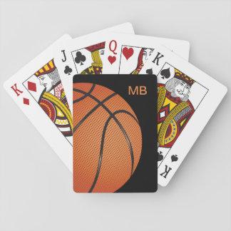 Cool Monogram Basketball Theme Playing Cards