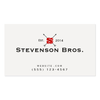 Cool Monogram Classic Vintage Black and White Business Card
