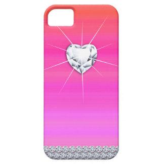 Cool Monogram Modern Bold Heart Shiny iPhone SE/5/5s Case