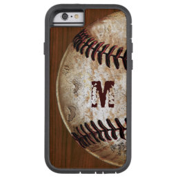 Cool Monogram, Number Baseball iPhone 6S Cases