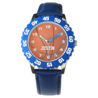 Cool Monogram with Name Awesome fun Basketball Wrist Watch
