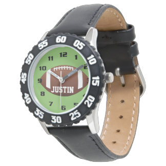 Cool Monogram with Name Football kids Wristwatch