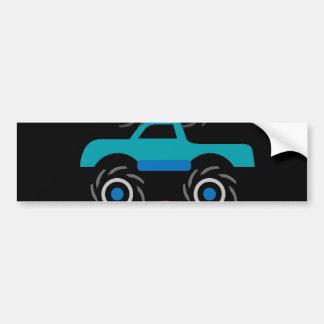 Cool Monster Trucks Blue Red Green Gifts for Boys Bumper Sticker