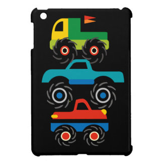 Cool Monster Trucks Blue Red Green Gifts for Boys iPad Mini Covers