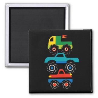 Cool Monster Trucks Blue Red Green Gifts for Boys Magnet