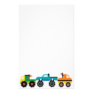Cool Monster Trucks Blue Red Green Gifts for Boys Stationery