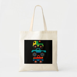 Cool Monster Trucks Blue Red Green Gifts for Boys Tote Bag