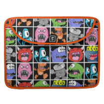 Cool Monsters and Little Devils Pattern MacBook Pro Sleeve
