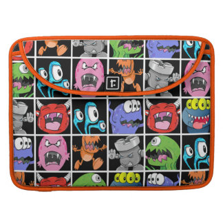 Cool Monsters and Little Devils Pattern Sleeves For MacBooks