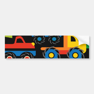 Cool Monsters Trucks Transportation Gifts for Boys Bumper Sticker
