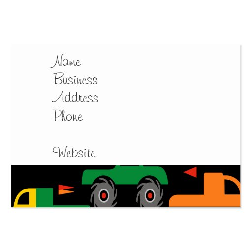 Cool Monsters Trucks Transportation Gifts for Boys Business Card Templates