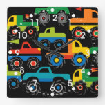 Cool Monsters Trucks Transportation Gifts for Boys Wallclocks