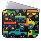 Cool Monsters Trucks Transportation Gifts for Boys Computer Sleeve